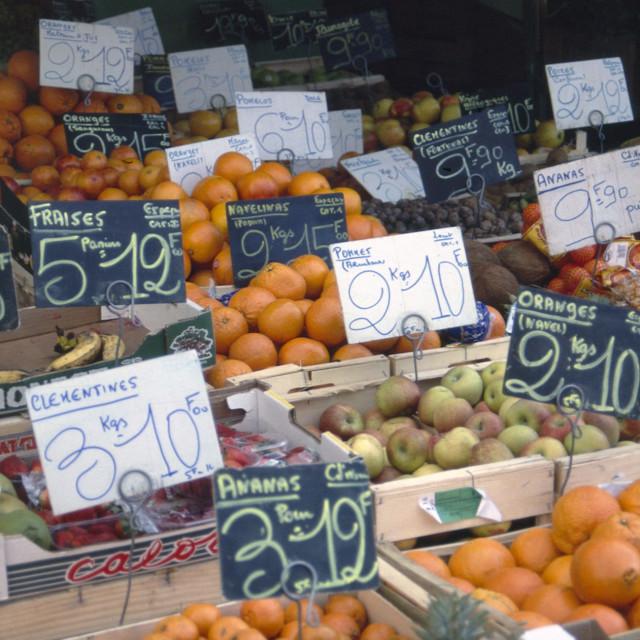 """French food market"" stock image"