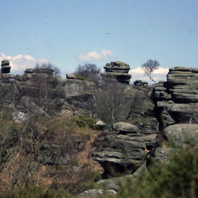 """Brimham Rocks, Yorkshire"" stock image"