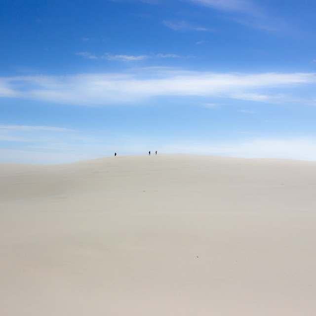 """Trekking on the Danish desert II"" stock image"