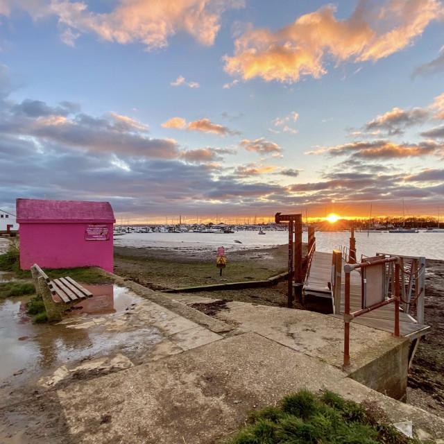 """""""Warsash Sunset"""" stock image"""