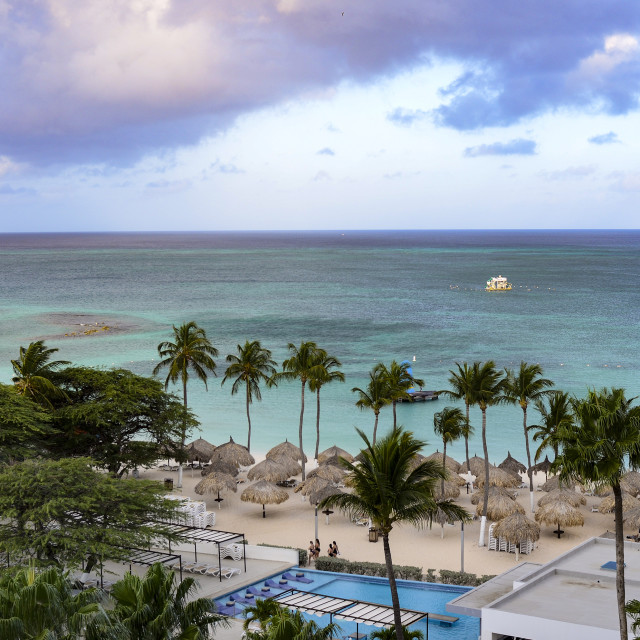 """Aruba beach vista"" stock image"