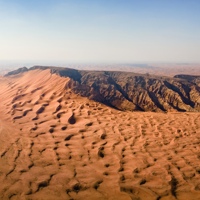 """""""Fossil Rock in the Sharjah desert of the United Arab Emirates pa"""" stock image"""