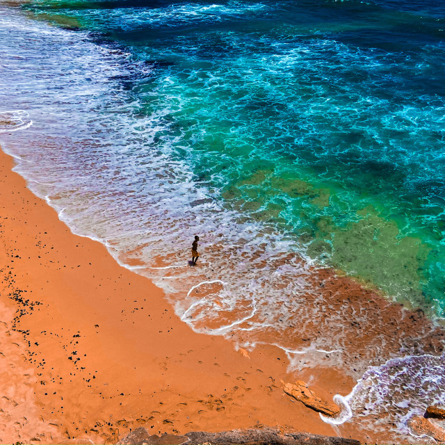 """Dream Beach on the Indonesian island of Nusa Lembongan"" stock image"