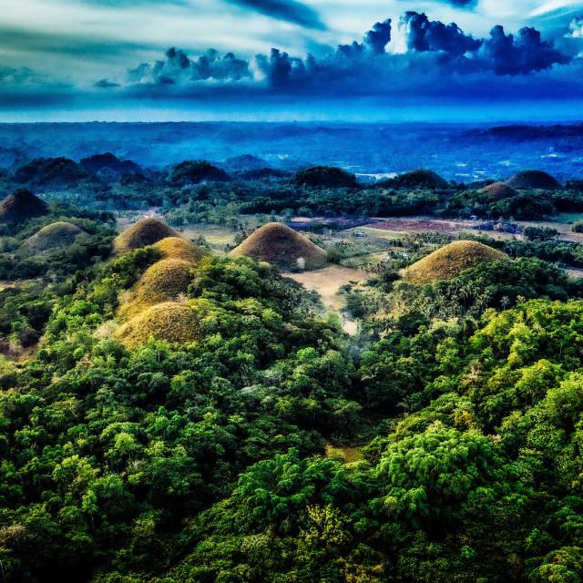 """Chocolate Hills Bohol Philippines"" stock image"