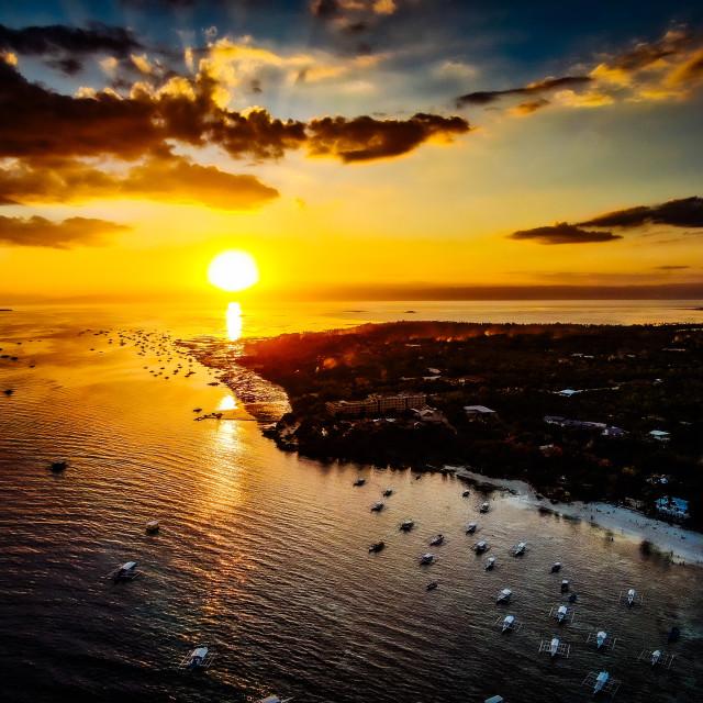 """Alona Beach Panglao Island, Bohol Philippines"" stock image"