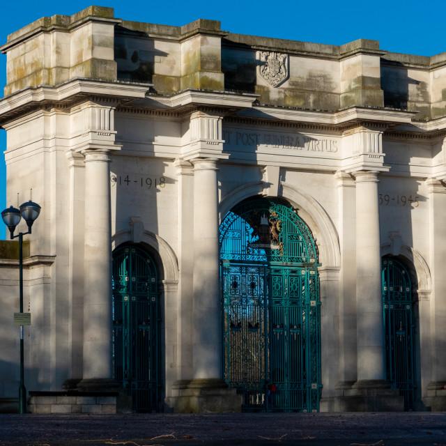"""The Victoria War Memorial, Nottingham"" stock image"