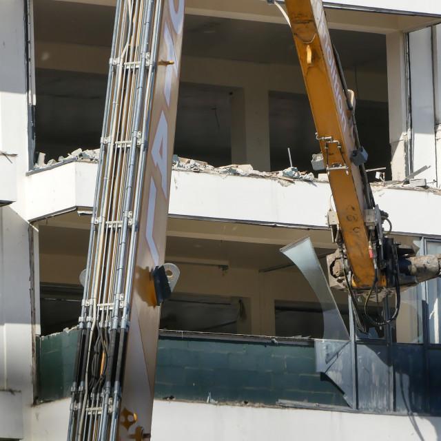"""Building demolition"" stock image"