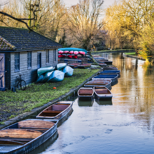 """The River Cam, Cambridge UK."" stock image"