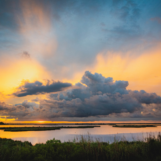 """Marsh Sunset"" stock image"