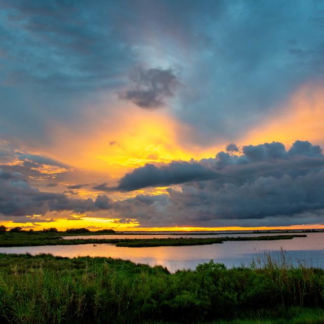 """Cocodrie Sunset"" stock image"