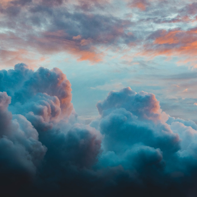 """""""Cotton Candy Sunset"""" stock image"""