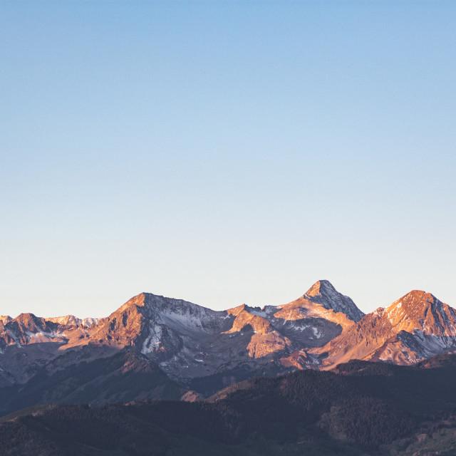 """""""Sun Peaked Mountain Range"""" stock image"""