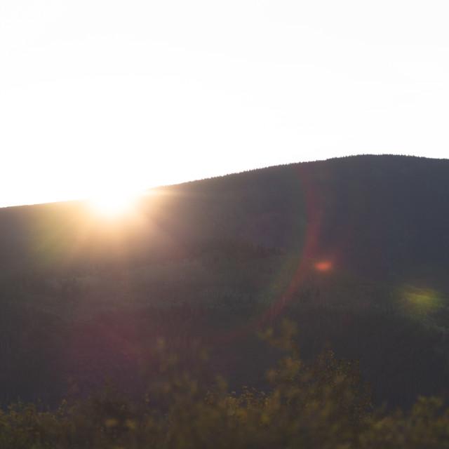 """""""Sunrise over Aspen"""" stock image"""