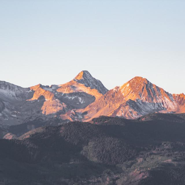 """Mountain Sunshine"" stock image"