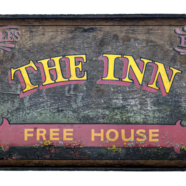 """Rustic British Pub And Inn Sign"" stock image"