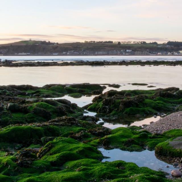 """Dawn At Stonehaven Bay"" stock image"