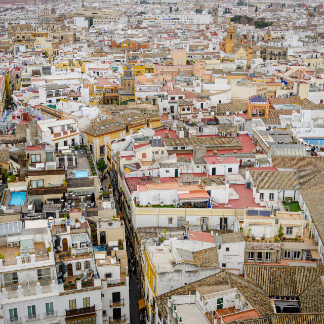 """""""The view from Seville Cathedral, Spain"""" stock image"""