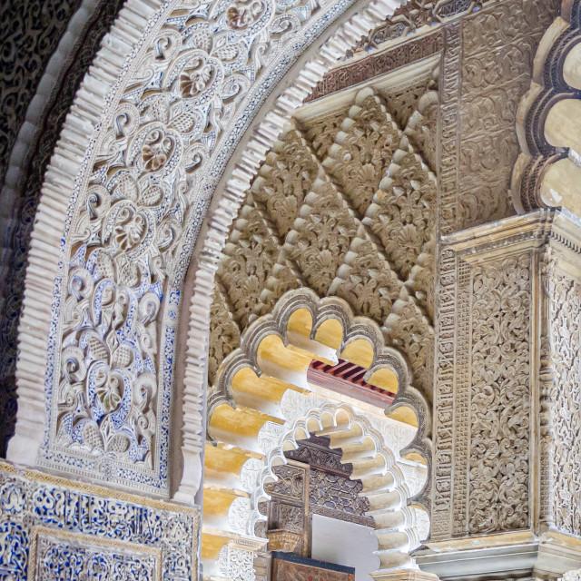 """""""Royal Alcázar of Seville, Spain"""" stock image"""
