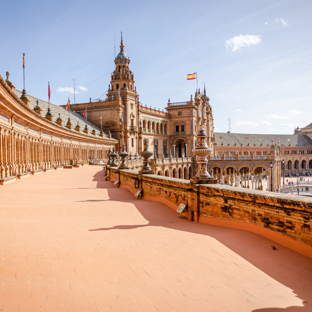 """""""Plaza de España, Seville, Spain"""" stock image"""