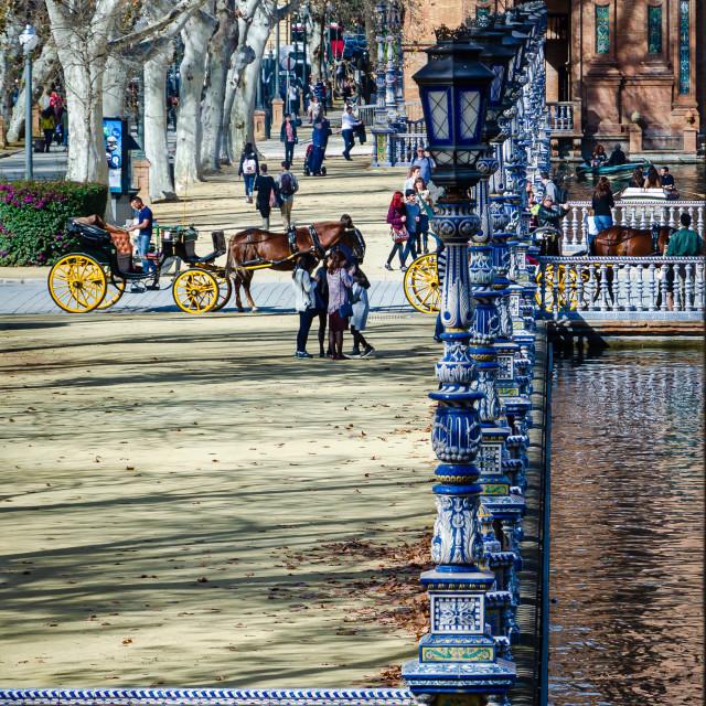"""Plaza de Espana, Seville, Spain"" stock image"