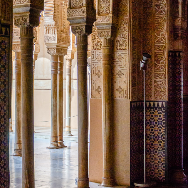 """""""Nasrid Palaces in Alhambra complex, Granada, Spain"""" stock image"""