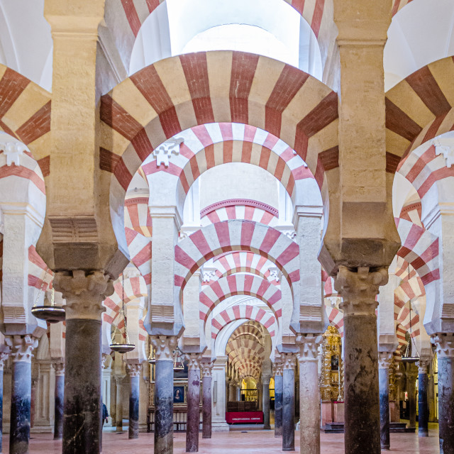"""""""Interior of the Mosque–Cathedral of Córdoba."""" stock image"""