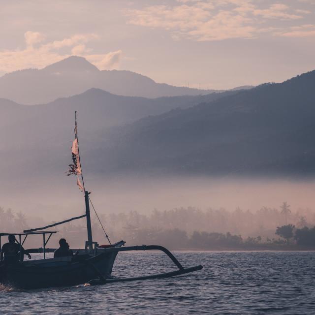 """""""Dawn in Bali"""" stock image"""