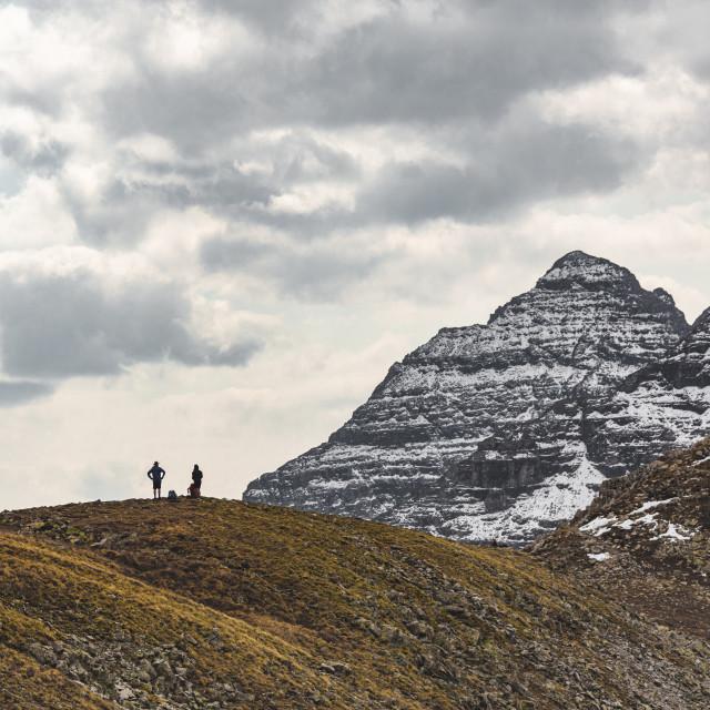 """Maroon Peak Hikers"" stock image"