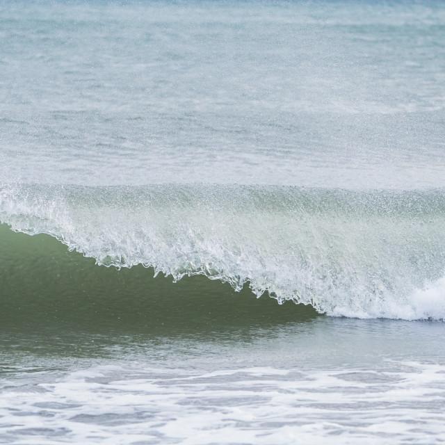 """""""Breaking waves on mediterranean coast"""" stock image"""