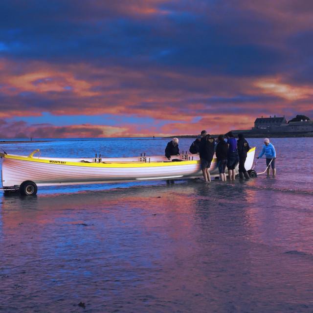 """""""Mounts Bay Cornish Gig"""" stock image"""