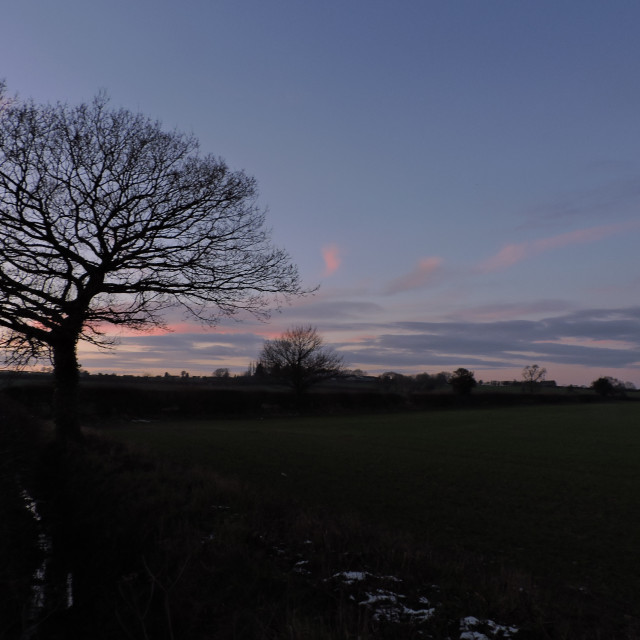 """""""Early Evening Middleton Staffordshire December 2020"""" stock image"""