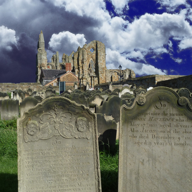 """Whitby Abbey Yorkshire England"" stock image"