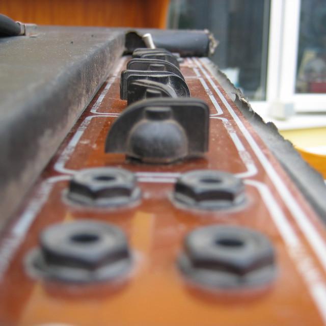 """VOX AC30 vintage guitar amp"" stock image"