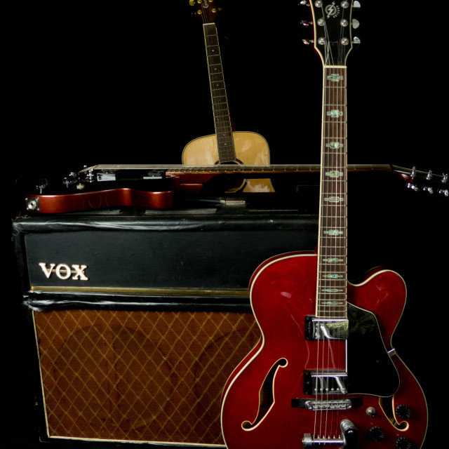 """""""Guitar and Amp"""" stock image"""