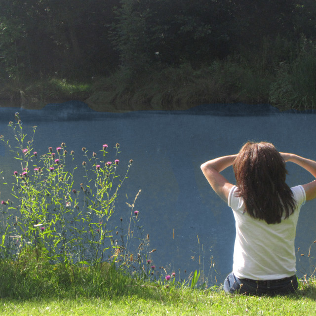 """Lakeside View"" stock image"