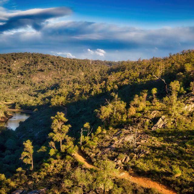 """Helena Valley Hillside Aerial"" stock image"