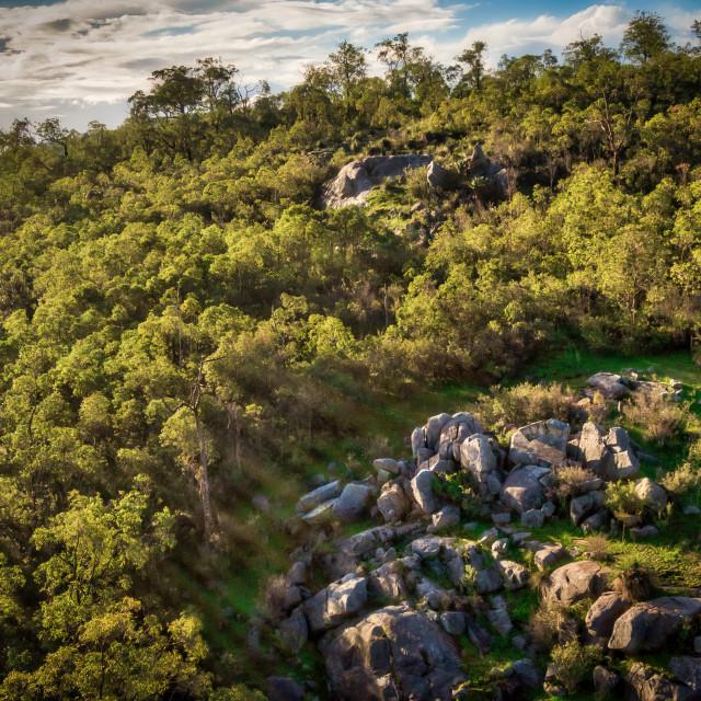 """Darlington Hillside Aerial"" stock image"