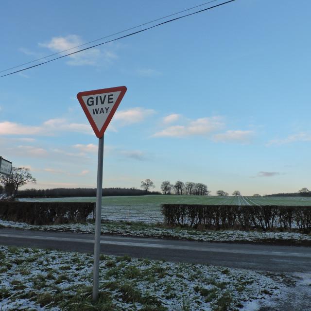 """""""Derbyshire Dales Landscape December 2020"""" stock image"""