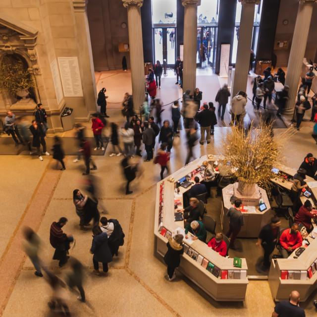 """Busy day at the Met // Manhattan, New York"" stock image"