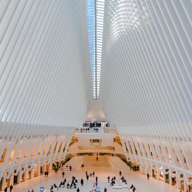 """Inside the Oculus // Manhattan, New York"" stock image"