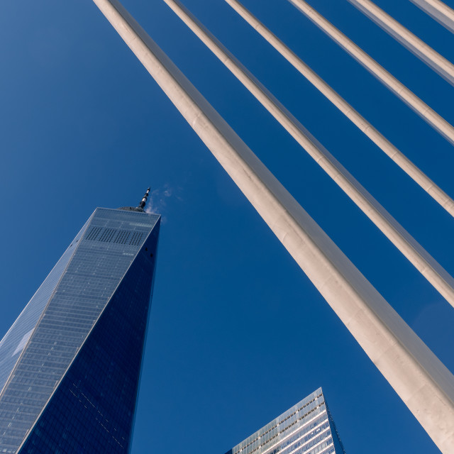 """Exterior of One World Trade Centre and the Oculus // Manhattan,"" stock image"