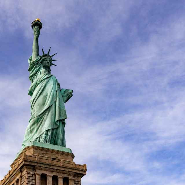 """The Statue of Liberty // Manhattan, New York"" stock image"