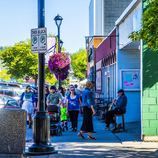"""""""Blues On George Street"""" stock image"""