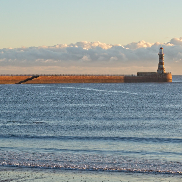 """""""Roker Pier and Lighthouse"""" stock image"""
