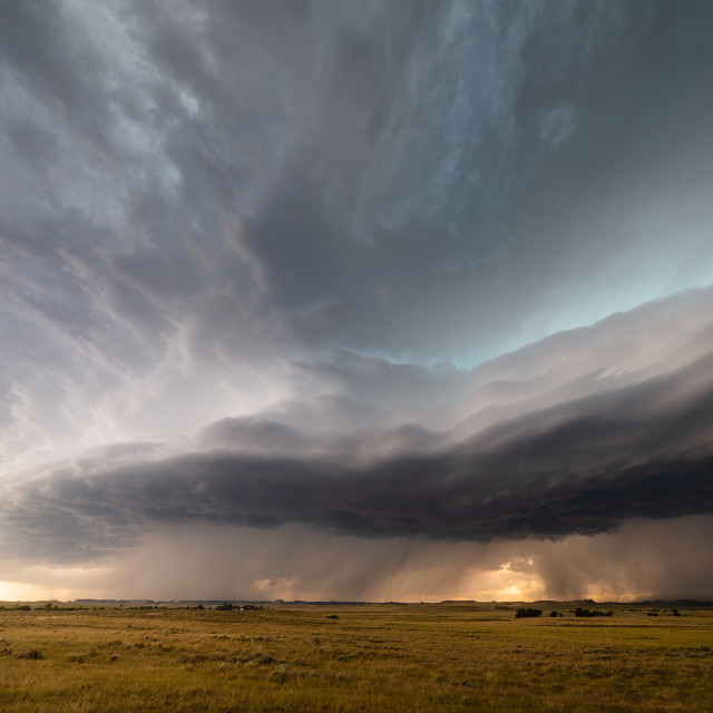 """Dramatic storm clouds in Montana"" stock image"