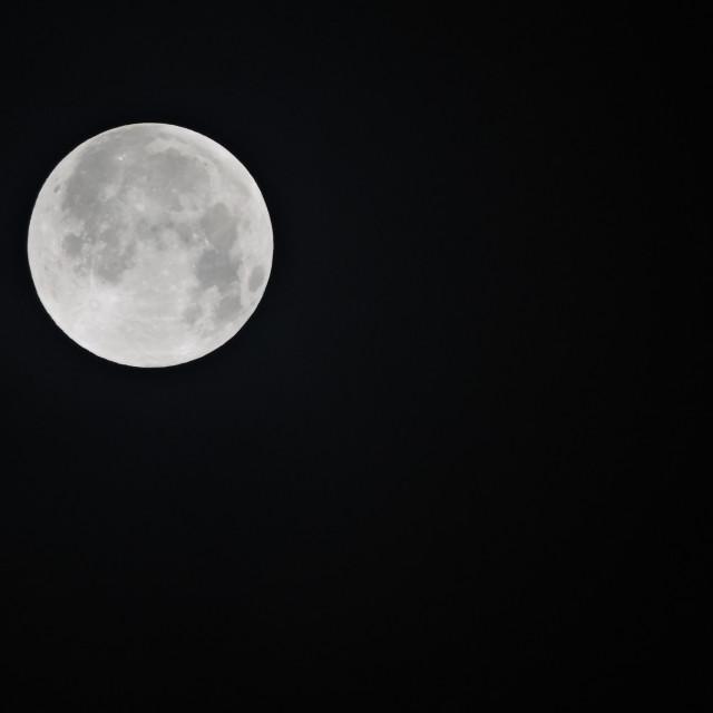 """Moon Middleton Staffordshire December 2020"" stock image"