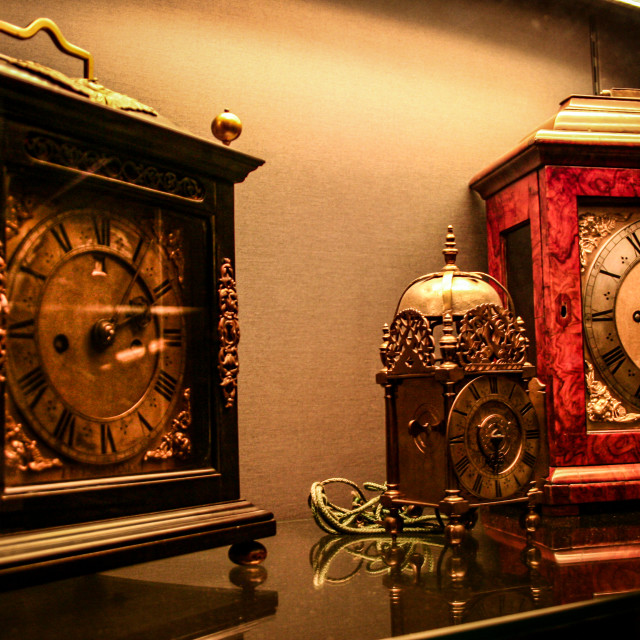 """Antique clocks"" stock image"