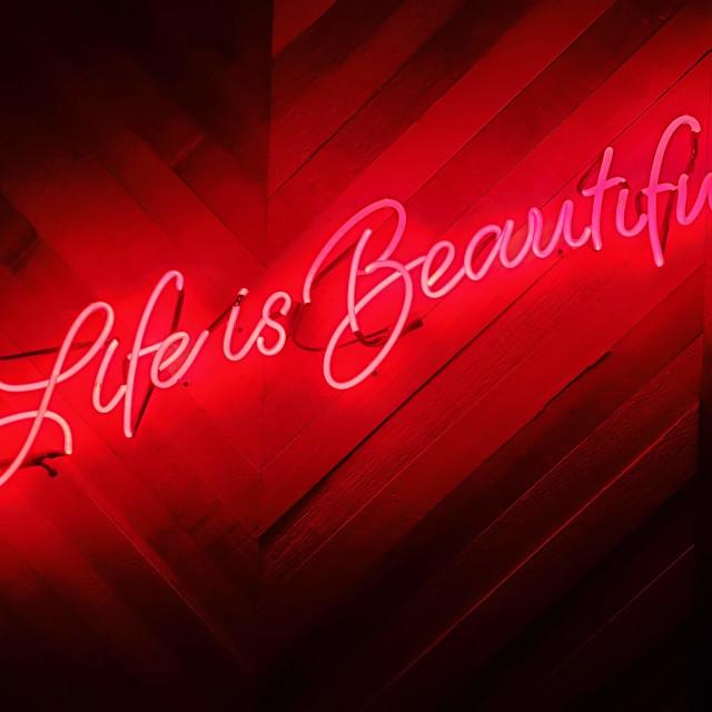 """LIFE IS BEAUTIFUL"" stock image"