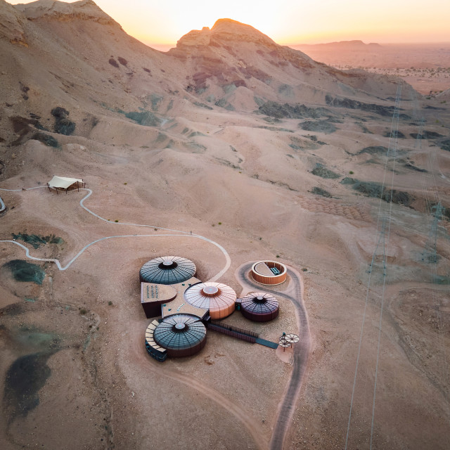 """""""Buhais Geology Park displaying different natural rocks in Sharjah emirate of the United Arab Emirates constructed to resemble the planet Mars"""" stock image"""