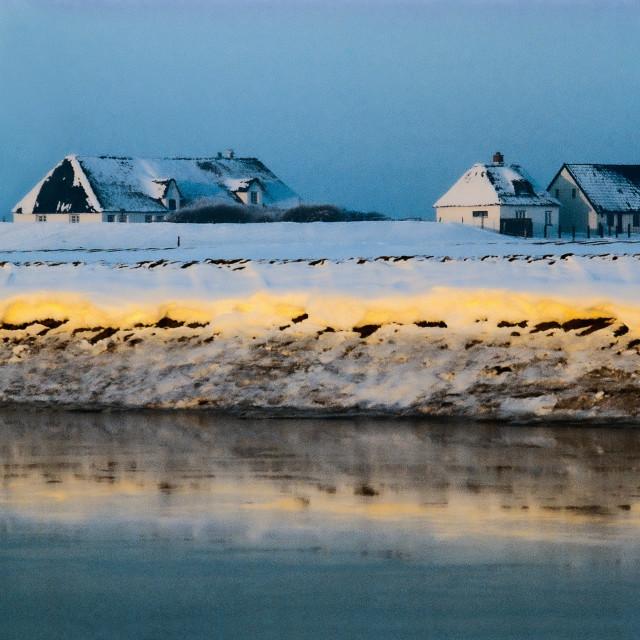 """""""Winter auf Hamburger Hallig im Nordfriesischem Wattenmeer"""" stock image"""